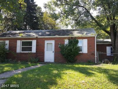 Glen Burnie Single Family Home For Sale: 827 Dale Road