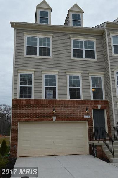 Glen Burnie Townhouse For Sale: 714 Millhouse Drive