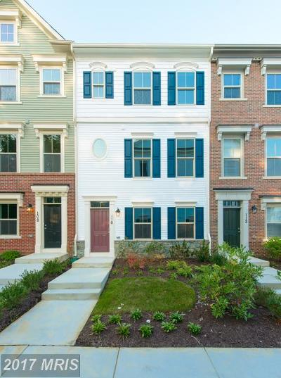 Annapolis Townhouse For Sale: 110 Waterline Court