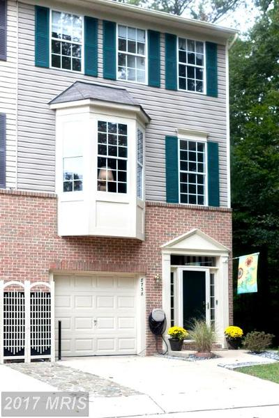 Odenton Townhouse For Sale: 8738 Little Patuxent Court