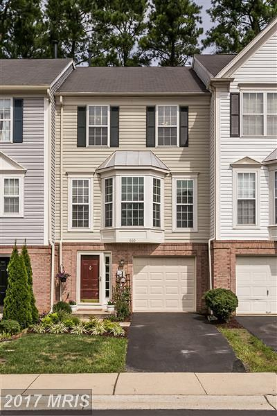 Annapolis Townhouse For Sale: 660 Howards Loop