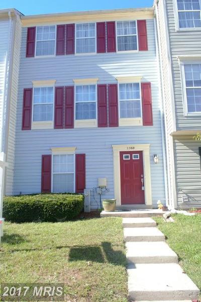 Crofton Townhouse For Sale: 2569 Ambling Cir #50