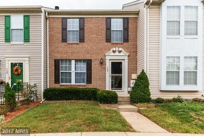 Glen Burnie Townhouse For Sale: 138 Foxview Drive