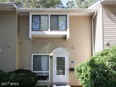 Annapolis Townhouse For Sale: 1204 Gemini Drive