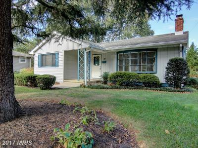 Annapolis Single Family Home For Sale: 12 Wainwright Drive