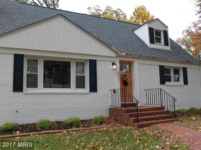 Annapolis Single Family Home For Sale: 511 Wilson Road