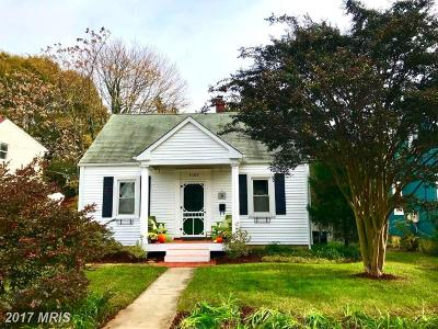 Annapolis Single Family Home For Sale: 1205 President Street