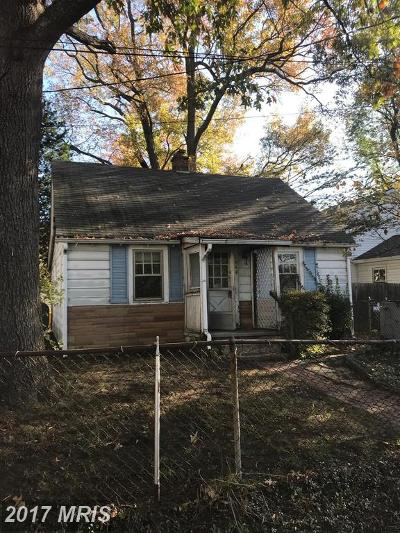 Edgewater MD Single Family Home For Sale: $160,000