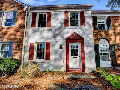 Annapolis Townhouse For Sale: 16 Georgetown Court #1