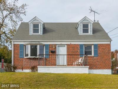 Anne Arundel Single Family Home For Sale: 418 Fairfax Avenue