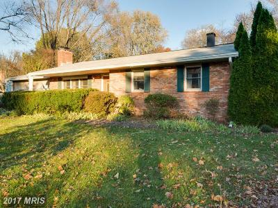 Anne Arundel Single Family Home For Sale: 1823 Woodrail Drive