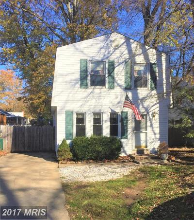 Anne Arundel Single Family Home For Sale: 1617 Ruxton Road