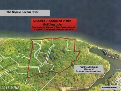 Anne Arundel Residential Lots & Land For Sale: 956 Sherwood Forest Road