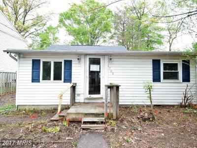 Edgewater MD Single Family Home For Sale: $163,000