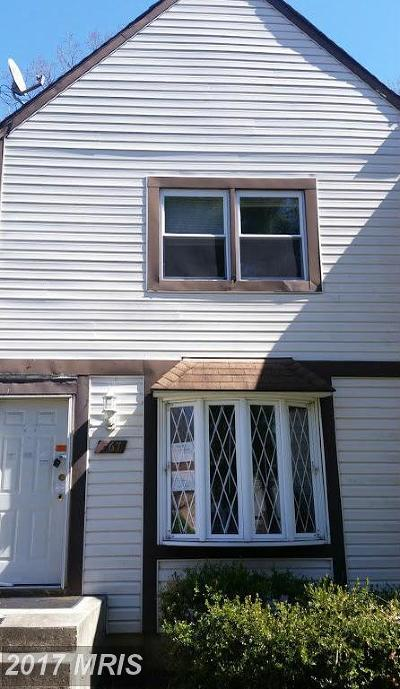 Glen Burnie Townhouse For Sale: 267 Jay Jay Court #5