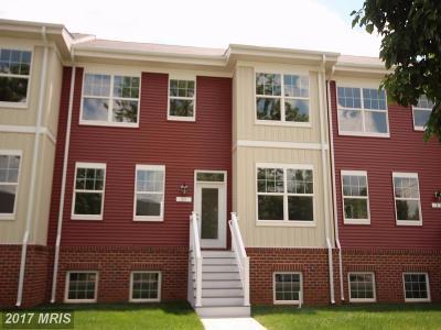 Glen Burnie Townhouse For Sale: 23 A Street #23