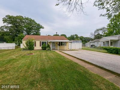 Anne Arundel Single Family Home For Sale: 1024 Thomas Road