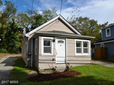 Annapolis Single Family Home For Sale: 222 Admiral Drive