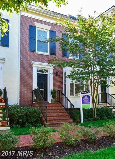Alexandria Townhouse For Sale: 752 First Street