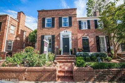 Alexandria Townhouse For Sale: 822 Pitt Street S