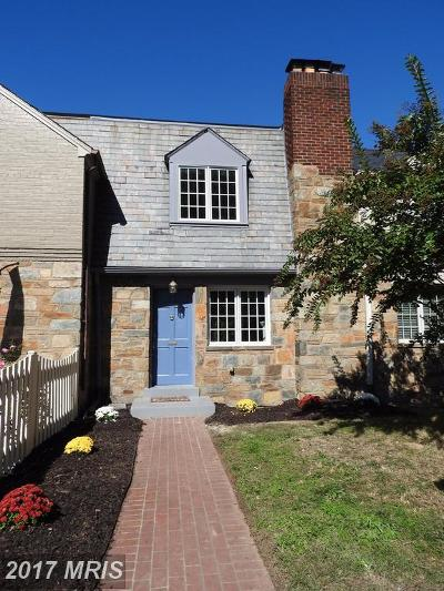 Alexandria Townhouse For Sale: 703 Chetworth Place