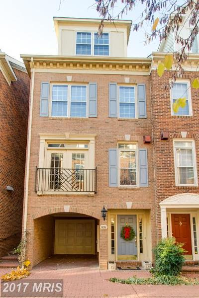 Alexandria Townhouse For Sale: 818 Water Place