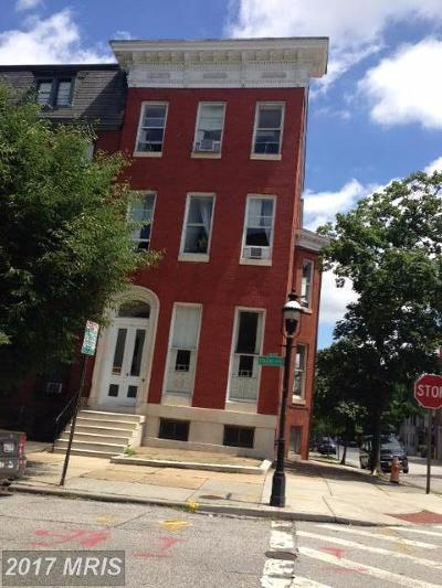 Baltimore Multi Family Home For Sale: 1501 Park Avenue
