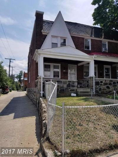 Baltimore Townhouse For Sale: 3901 Woodridge Road