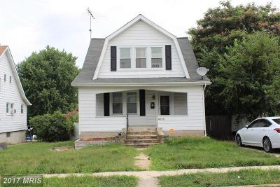 Baltimore Single Family Home For Sale: 4312 Arizona Avenue