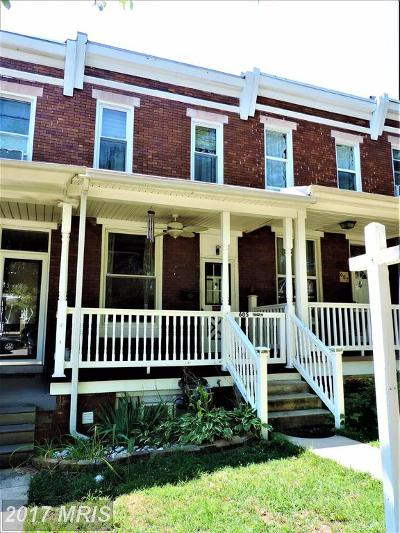 Hampden, Hampden Hon!! Townhouse For Sale: 605 W 33rd Street