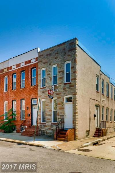Canton, Federal Hill, Federal Hill Area, Federal Hill;, Federall Hill, Fell Point, Fells Point, Fells Point Upper, Inner Harbor Single Family Home For Sale: 5 Heath Street W