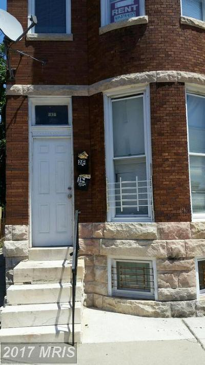 Baltimore MD Multi Family Home For Sale: $39,900