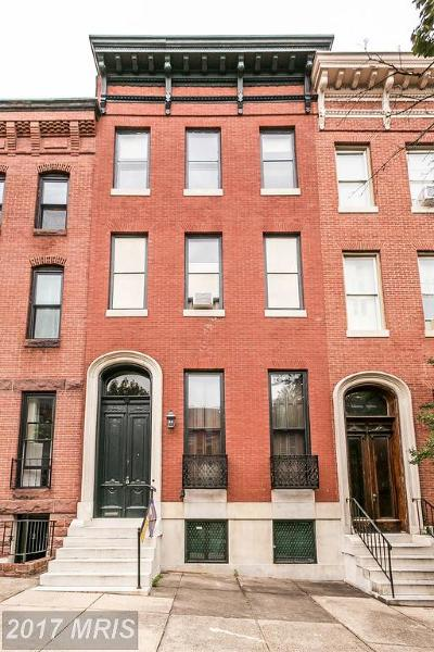 Baltimore Townhouse For Sale: 1617 Bolton Street