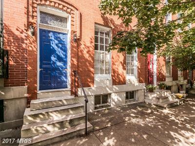 Baltimore Townhouse For Sale: 1430 John Street