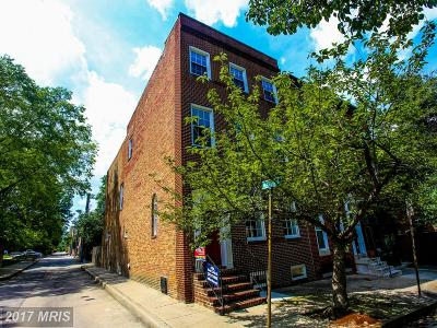 Baltimore Townhouse For Sale: 236 Dolphin Street