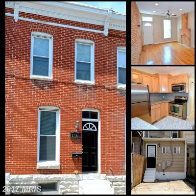 Baltimore Townhouse For Sale: 1730 Clarkson Street