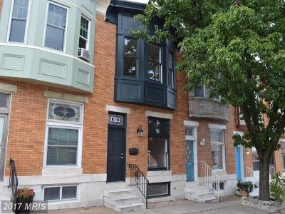 Baltimore Townhouse For Sale: 632 Potomac Street S