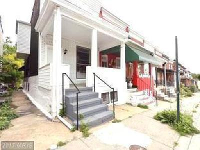 Baltimore Townhouse For Sale: 1546 Carswell Street
