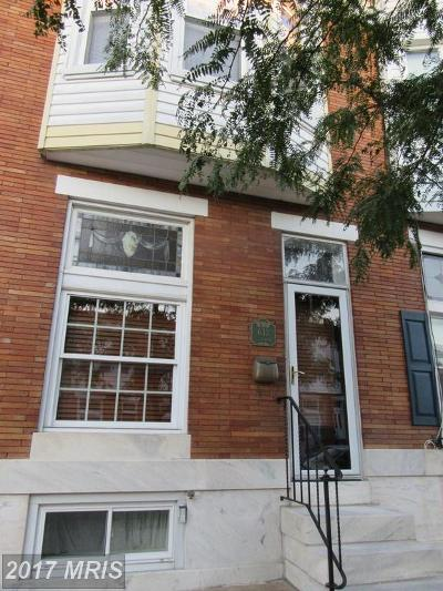 Baltimore Townhouse For Sale: 633 Linwood Avenue