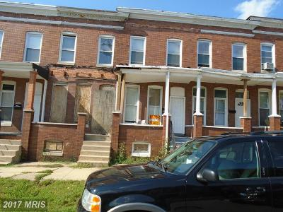 Baltimore Townhouse For Sale: 2410 Westwood Avenue
