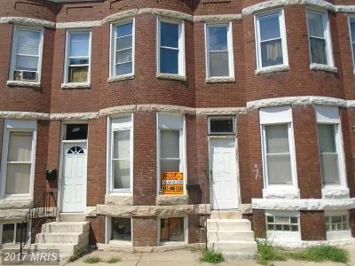 Baltimore Townhouse For Sale: 904 20th Street E