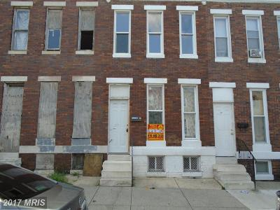 Baltimore Townhouse For Sale: 604 Payson Street N