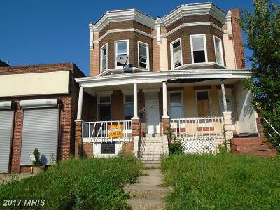 Baltimore Townhouse For Sale: 4339 Park Heights Avenue