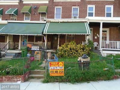 Baltimore Townhouse For Sale: 2656 Lehman Street