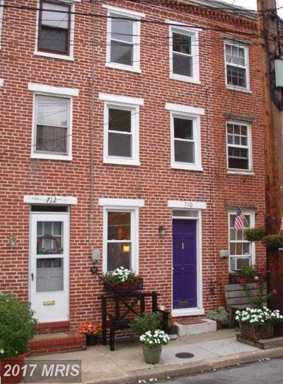 Fells Point Townhouse For Sale: 710 Durham Street