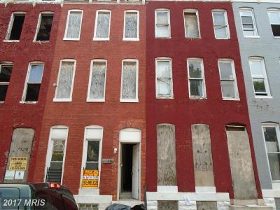 Baltimore Townhouse For Sale: 1126 Carey Street N