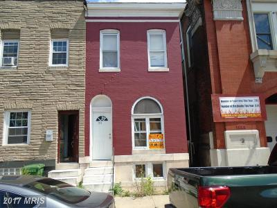 Baltimore Townhouse For Sale: 1225 Montford Avenue N
