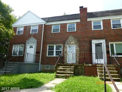 Baltimore Townhouse For Sale: 4709 Chatford Avenue