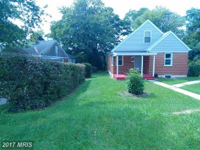 Baltimore MD Single Family Home For Sale: $150,000