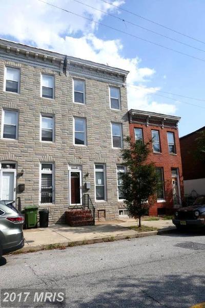 Baltimore City Townhouse For Sale: 776 Hamburg Street